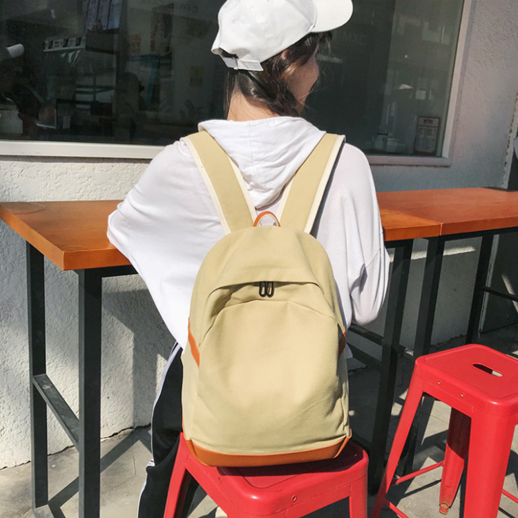 Simple travel factory custom Sports Hiking canvas backpack for women fashion school backpack for teenage girls
