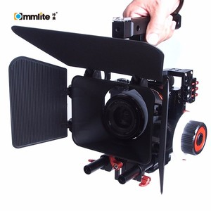 Commlite Video Rig Kit Camera Cage/Follow Focus/Matte Box for Micro Camera