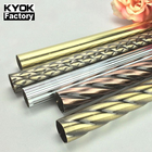 Kyok 2019 Classictop Quality Double Wooden Curtain Rod Bracket Plasticfolding Curtain Rodlength 5M Curtain Rod