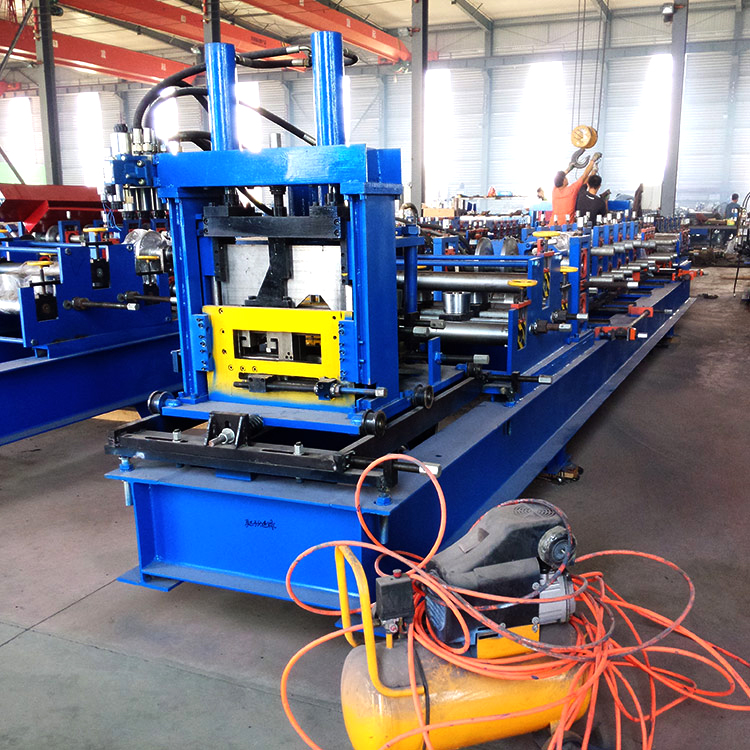 Full automatic c lip channel steel structure quick change c section purline cold roll forming machine