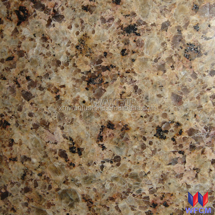 Kitchen Golden leaf granite kitchen counter top with sink cut out