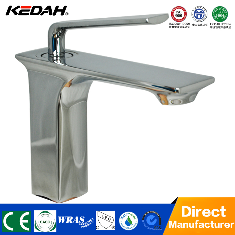 New cheap upc square brass white paint bathroom basin faucet