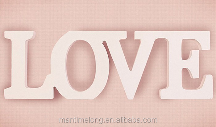 Wedding Decorations LOVE Letter Wooden White Wood Alphabet decoration romantic mariage Birthday Party Decoration