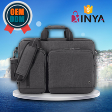 15.6 inch laptop Hybrid Briefcase, Polyester Computer Bag In Grey