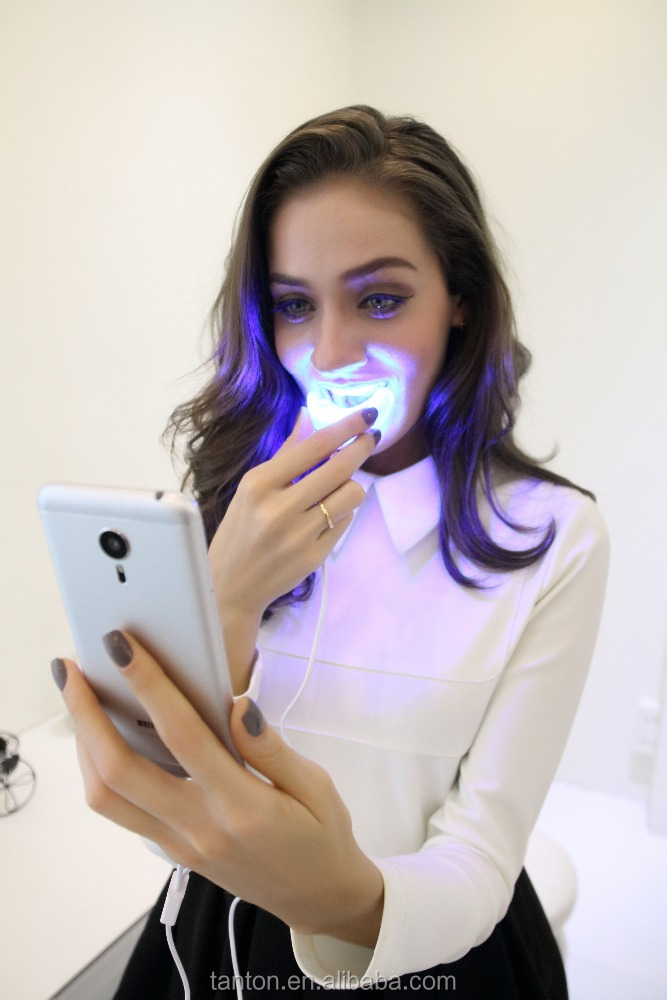 2016 Brand New Portable Teeth Whitening Led Light with USB/Android/iPhone interface