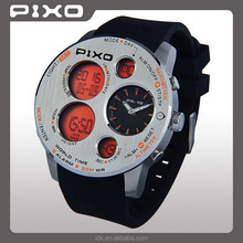 PX-18 Wholesales award winning stainless steel Low MOQ Orange calender multi functional outdoor sensor watch for men