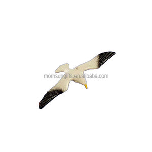 Flying cute animated flying resin seagull figurine for home decor