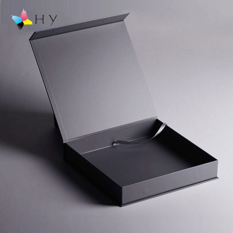 Silver hot foil stamping magnetic gift cardboard box design A4 for packaging