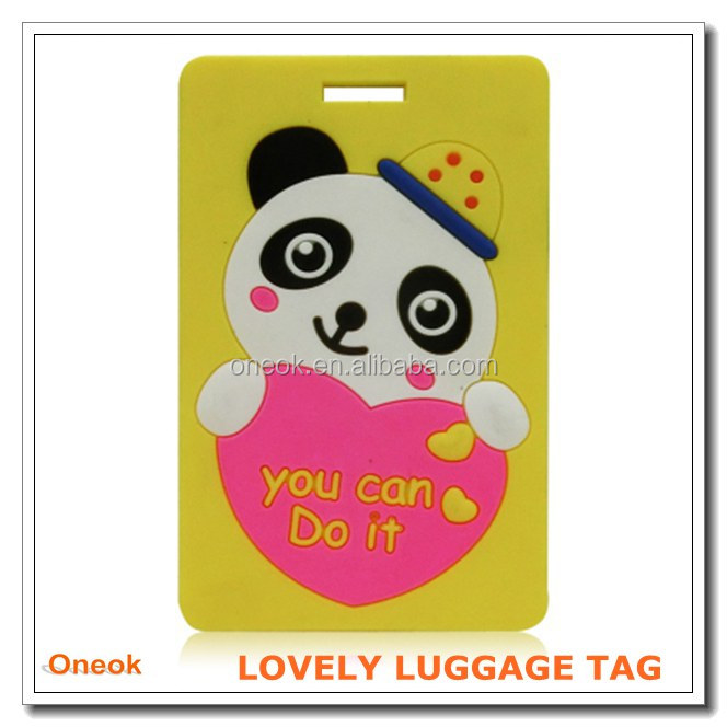 Promotional Travel Durable Cool Luggage Tag, Animal Photo Luggage Tag, Lovely Luggage Tag