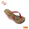 chappal manufacture beach wooden flip flops hawii sunflower