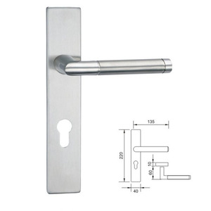 Stainless Steel 304 Exit Door Lever Lock Mortise Tube Lock Set Fire Door Lock