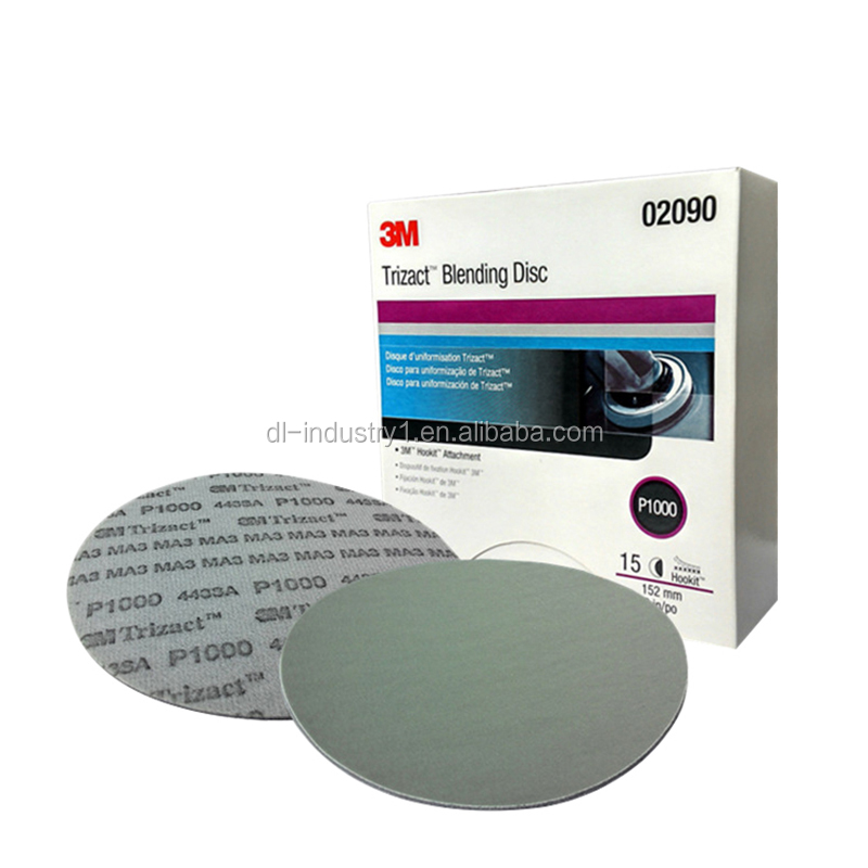 3M Trizact polishing disk 02090, P1000 pyramid 6''-152MM abrasive pad , 2mm cutting force 3M abrasive paper