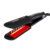 Tourmaline ceramic plate hair straightener brush flat iron