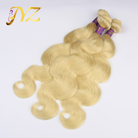 7A Grade Top Quality Double Drawn White Blonde Remy Human Hair Weft
