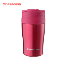 Wholesale 17oz 500ml Double Wall Spill Proof Travel Thermos Vacuum Insulated Stainless Steel Reusable Coffee Cup with Handle Lid