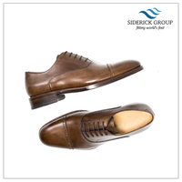 Italian workshop goodyear welted luxury man leather dress lace up shoes painted outsole 618802-004