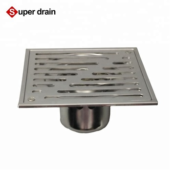 Square polished outdoor sewer drain cover grate shower linear floor drain