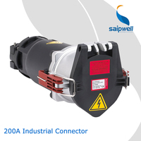Industrial Plug Sockets 3P+N+E IP44 IP67 16A 32A 63A 125A 200A 400A Saipwell Waterproof 200A Industrial Connector for Container