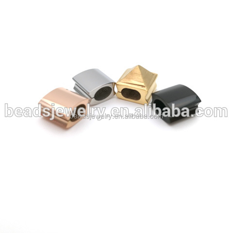 Chinese supplier of square beads in stainless steel with pvd plating