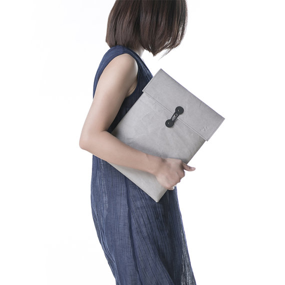 Customized Waterproof Computer Case,Washable Kraft Paper Laptop Sleeve Bag for Macbook Pro