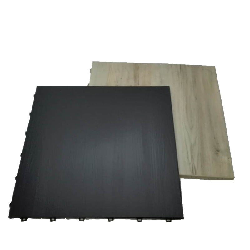 Durable interlocking event deck portable plastic dance flooring
