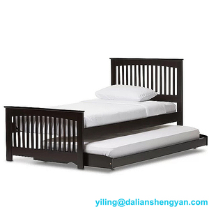 Safety stylish wooden double bed adult twin bed wooden bed designs