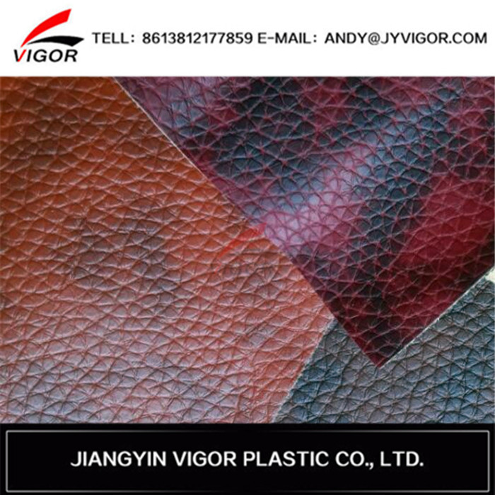 Alibaba outstanding suppliers litchi grain pvc leather for interior furniture