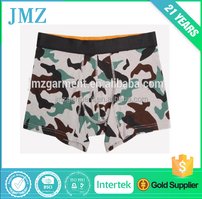 OEM cotton boxer briefs for men with custom logo in waistband