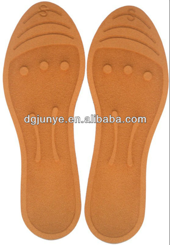 Colored foot support / massage soft reflexology insoles for foot care