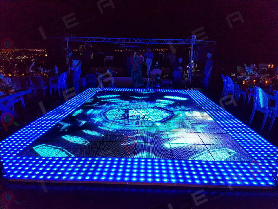 New products 61*61cm led video dance floor light video led glass <strong>screen</strong>