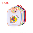 7 pack for one week Fashionable Fish Printed Competitive Price Baby Bibs