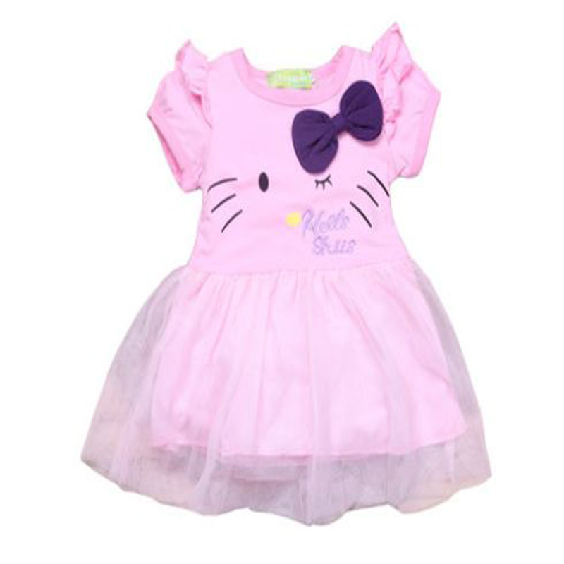 f40b31f32 Get Quotations · roupas infantis menina 2015 summer style hello kitty baby  girls princess dresses pink kids clothes for