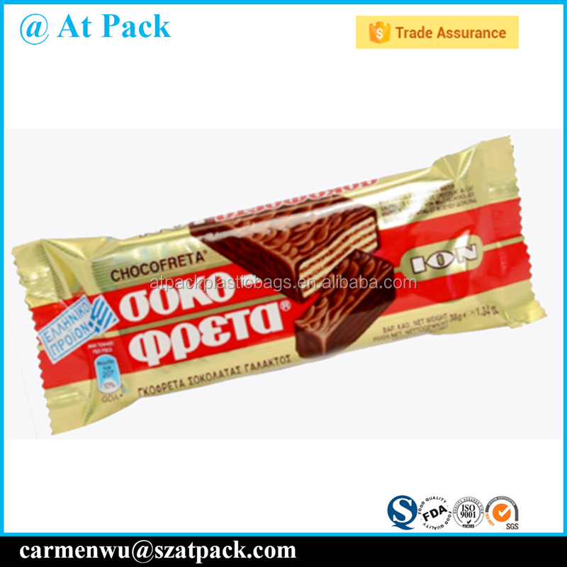 Custom printed heat sealable cereal bar bar packaging