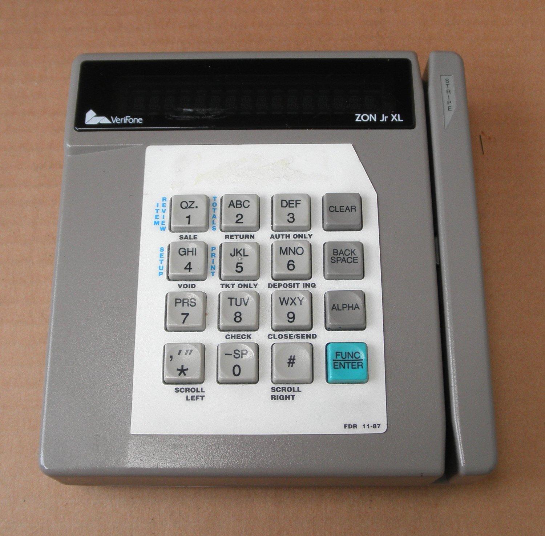 Get Quotations · VeriFone ZON Jr XL Credit Card Terminal - 01758-00.06 - AC  Adapter and Manual