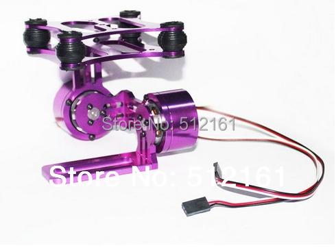 Purple GOPRO23 DJI Phantom PTZ And PTZ Cameras CNC Aluminum Brushless Motor