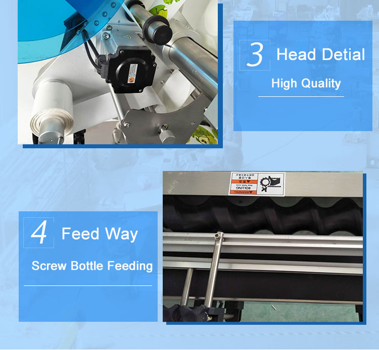 Automatic Topside Flat Labeling Machine With Feed Screw