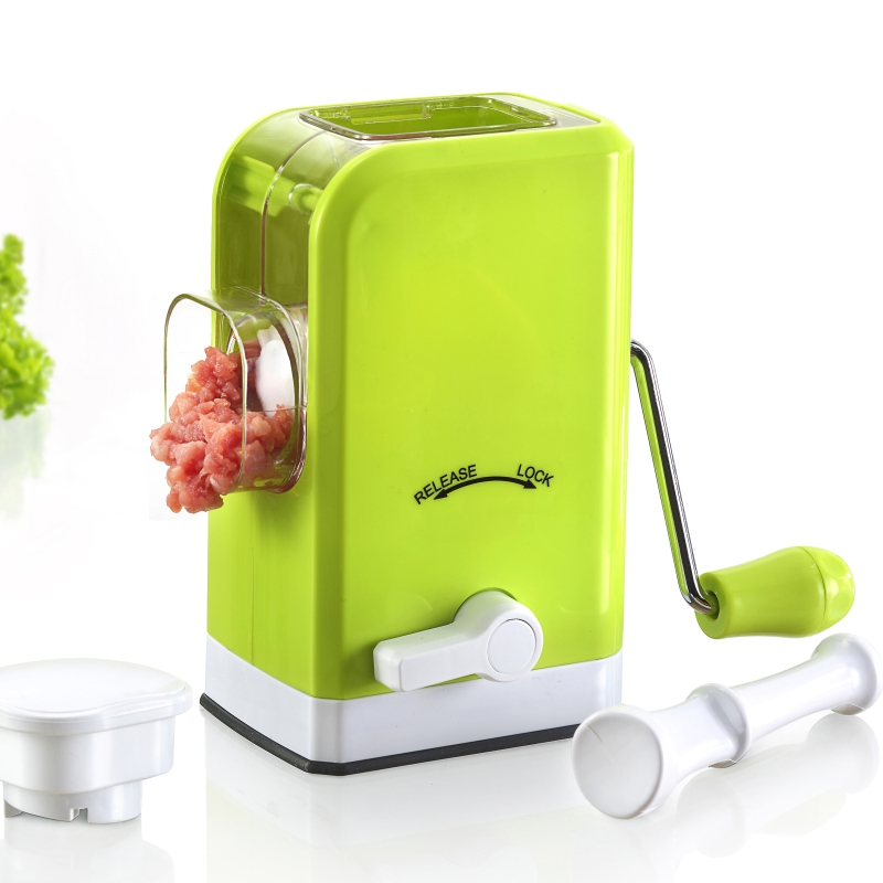 plastic stainless steel manual vegetable mini meat mincer grinder