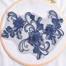 1 шт. 10 цветов 3D вышитый ажурный цветок головной убор платье декоративные аксессуары материал ручной работы золото(Китай)