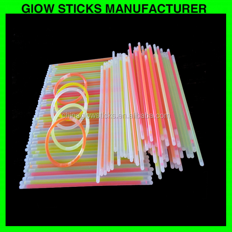 5*200mm Glow Bracelet 8 inch Chemical Thin Light Stick For Night Club