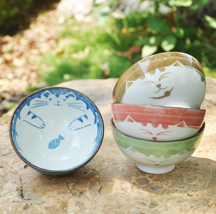 Japanese cartoon cute ceramic rice bowl