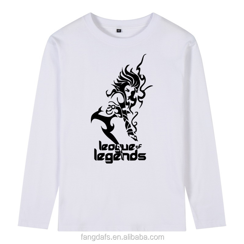 Hot Sale Custom Adults Plain O-neck Printing League of Legends Yasuo Raven Twisted Fate T-Shirt