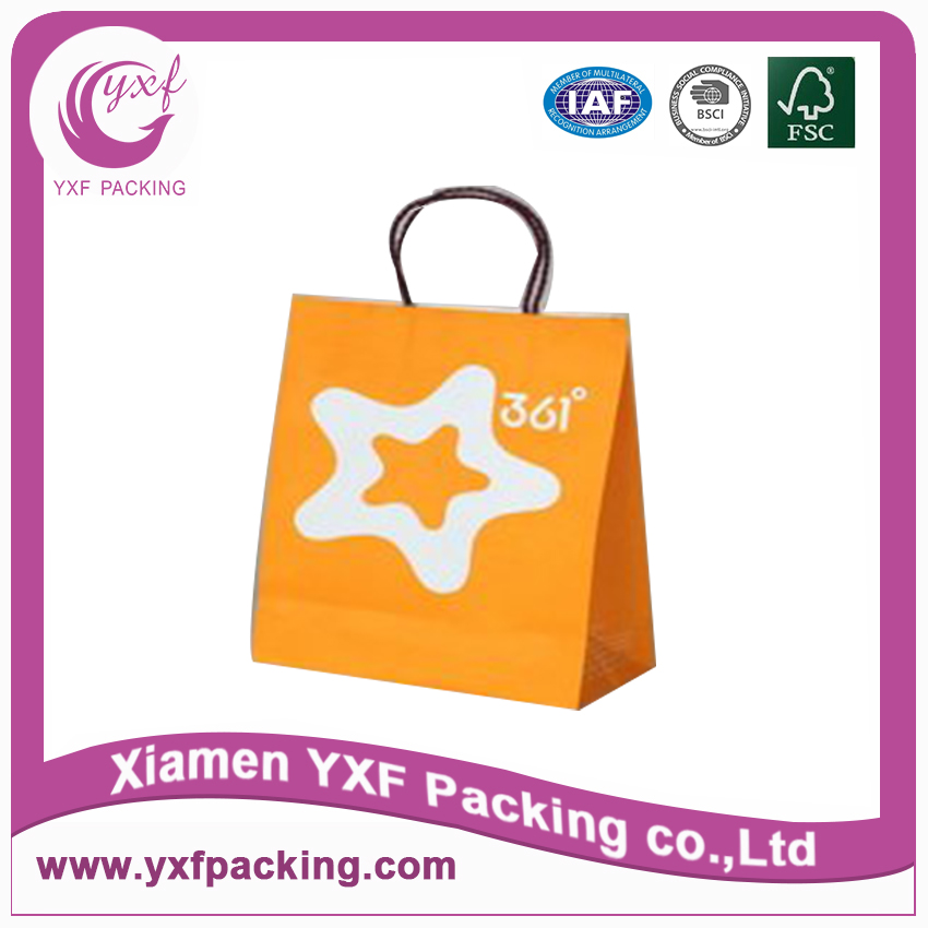 Hot sale machine made paper bag,paper shopping bag,kraft paper bag