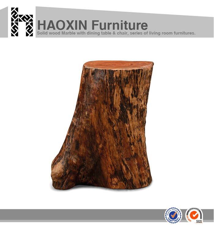 Teak Root Coffee Table Canada: Root Coffee Table With Carved Wooden Stool Tree Stump