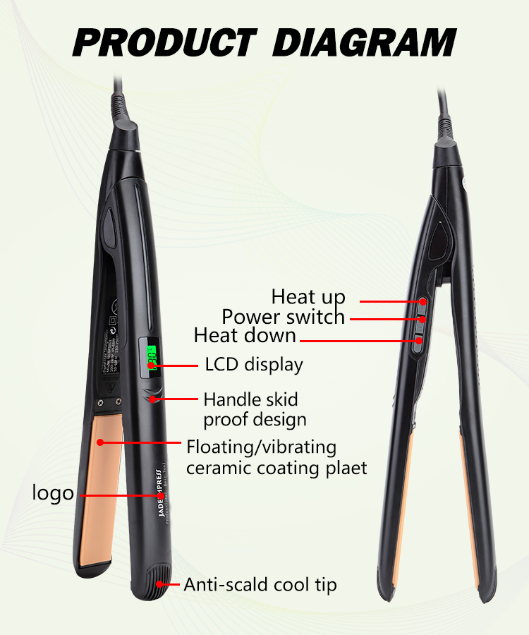 Hot Selling Hair Straightener Professional Hair Iron with LCD Display Temperature Flat Iron