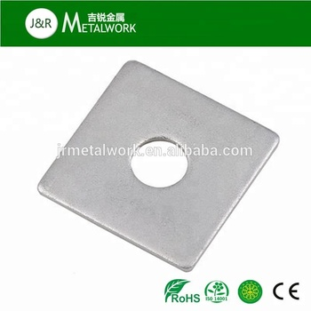 M36 M42 white zinc plated galvanized steel square washer DIN436