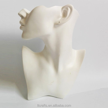 Whole Female Necklace Earrings Display Mannequin Bust