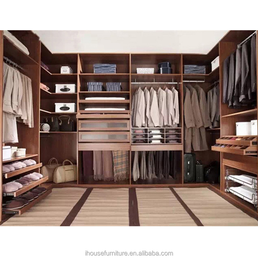 2017 Guangzhou Furniture Manufacturer Customize DIY E0 Grade Top Quality Walk In Closet Wardrobe Systems Models