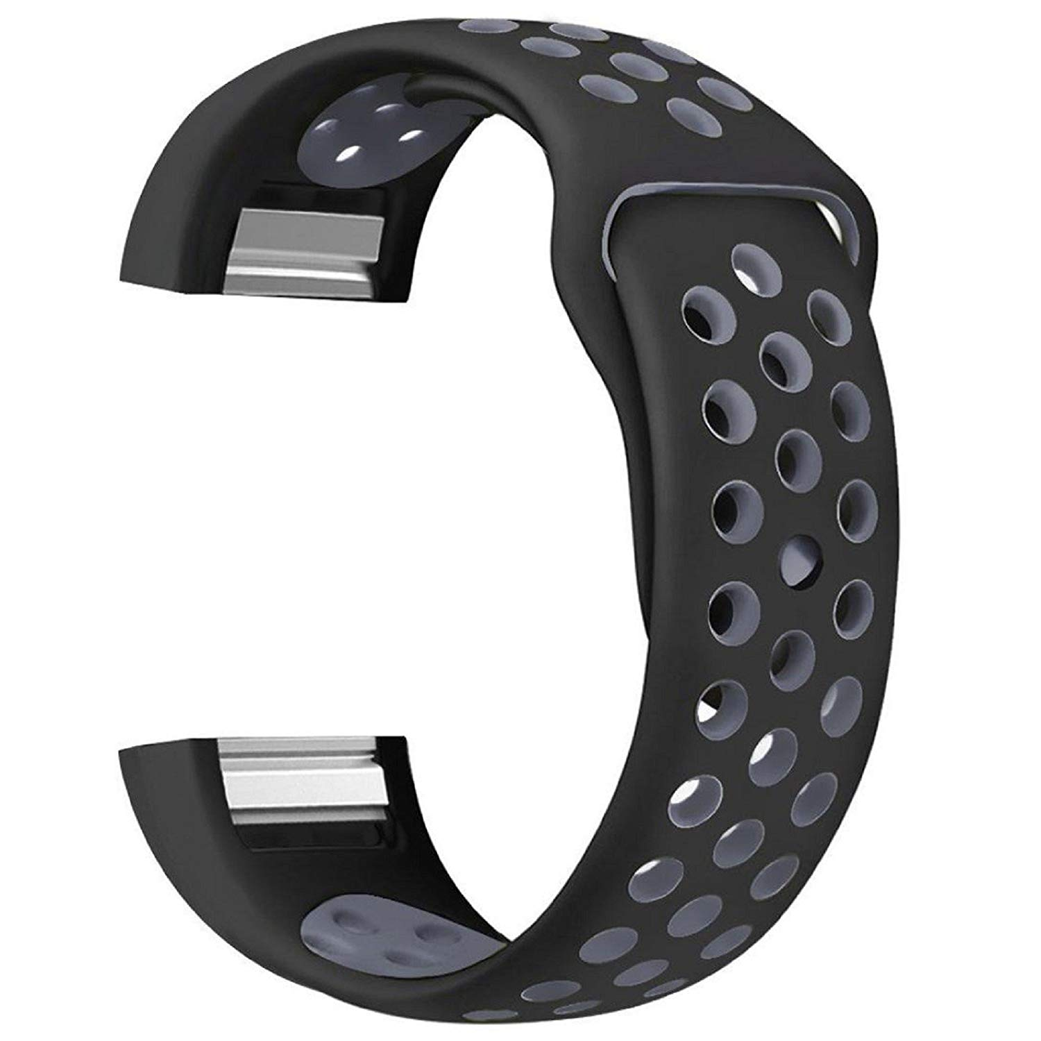 """Owill Small Size Fashion Sports Silicone Bracelet Strap Wrist Band For Fitbit Charge 2, Applicable Wrist: About 5.9""""-7.8"""" (150mm-200mm) (Gray)"""