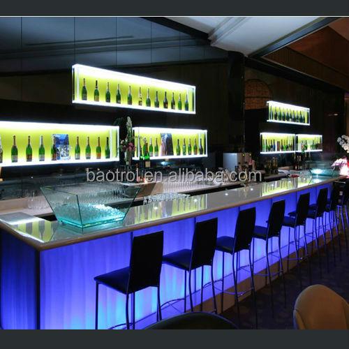 acrylic lighted bar furniture / unique bar table furniture / bar