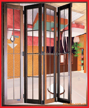 Large Size Aluminium Folding Door With Grill Design - Buy Indian ...